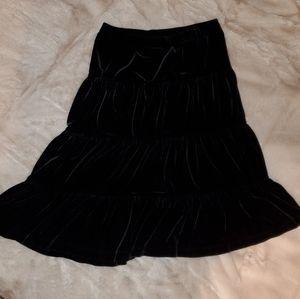 Talbots Kids Black Velvet Skirt